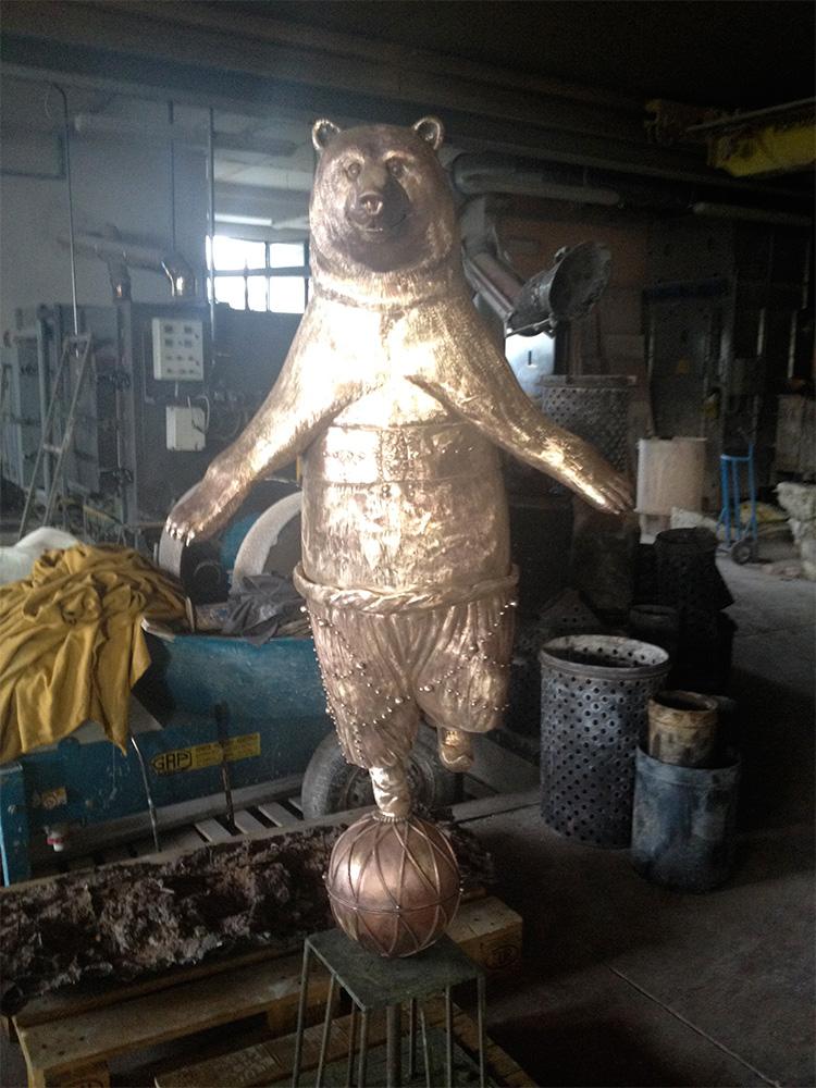 Bear on ball
